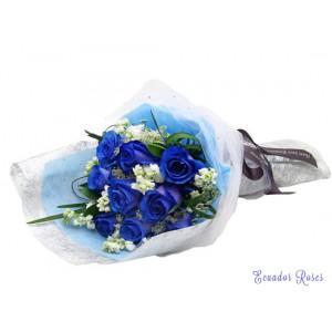 Dozen Blue Ecuadorian Roses