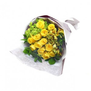 10 imported China yellow roses