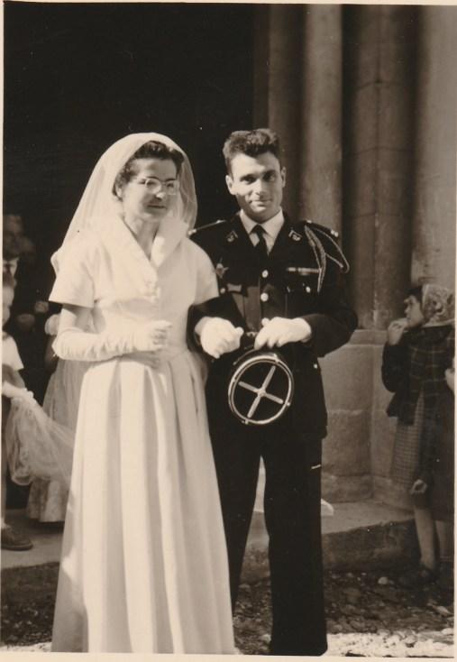 Mariage de Mireille Caire et Charles de Raphélis-Soissan - 22 octobre 1955 Collection Mireille de Raphélis-Soissan