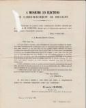1876-02-09 - Evariste Chancel - Lettre aux électeurs - Collection Charles de Raphélis-Soissan