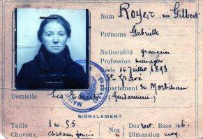Marie-Thérèse Gilbert - Carte d'identité - Collection François Royer