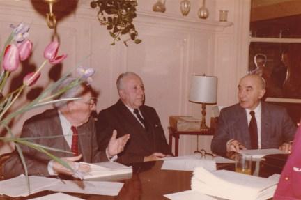 Cousinade Chancel du 21 mars 1981 : Jean Perraud, André Lapeyre, Jacques Ameil
