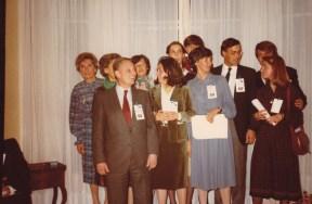 Cousinade Chancel du 21 mars 1981 : Sabine Rozan, ?, François Rozan, ?, ?, ?, ?, Agnés Laval, Emmanuel Laval, ?, Sylvie Rozan