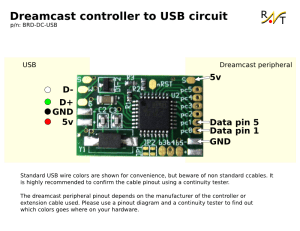 raph technologies  Dreamcast controller to USB circuit
