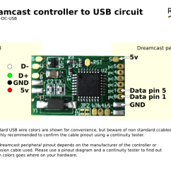Keyboard Wiring Diagram Electrical Nz Dreamcast Controller To Usb Adapter
