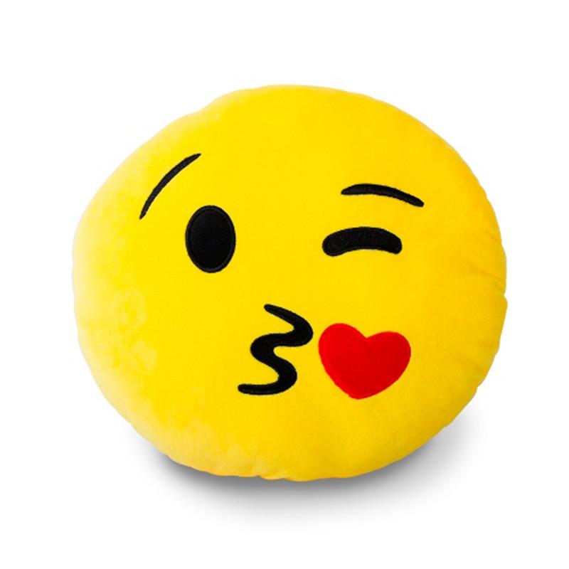Coussin dco jaune moticne  cadeau Smiley sur RapidCadeau