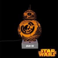 Lampe Star Wars en acrylique en forme de BB-8 sur Rapid-Cadeau