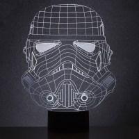 Lampe Star Wars en acrylique  leffigie dune tte de ...