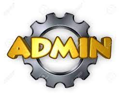 The Word Admin And Gear Wheel - 3d Rendering Stock Photo, Picture And  Royalty Free Image. Image 60596893.