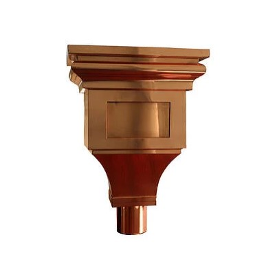 """Chegall Copper Leaderhead w/ 4"""" Round Outlet"""