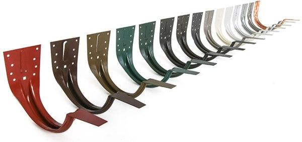 "6"" Stamped Steel Hangers for Half-Round Gutters"