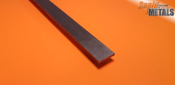 Bright Mild Steel (080a15) Flat 25.4mm x 15.9mm