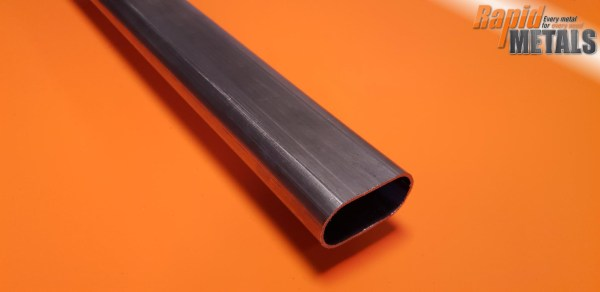 Mild Steel ERW Oval Tube 30mm x 15mm x 1.5mm Wall