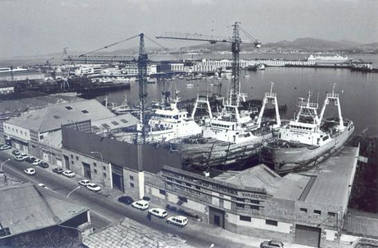 1990-Vista exterior de Astilleros Cardama (Foto Magar)