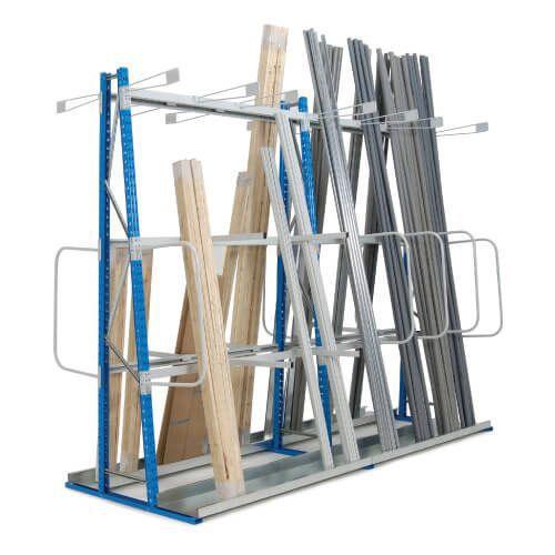 vertical storage rack add on bays