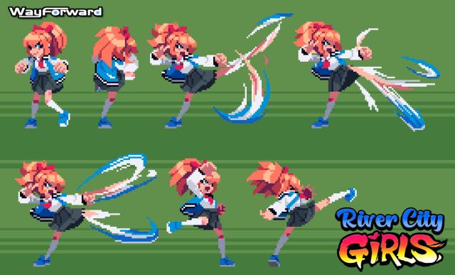 Kyoko kick animation