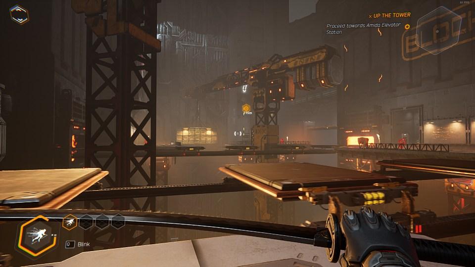 A crane-based level showcasing platforming