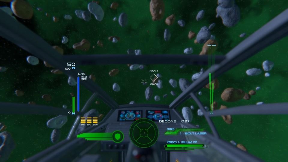 Flying a ship through asteroids