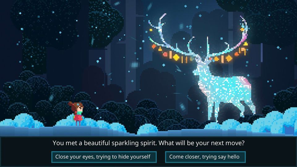 Talking to a magical deer