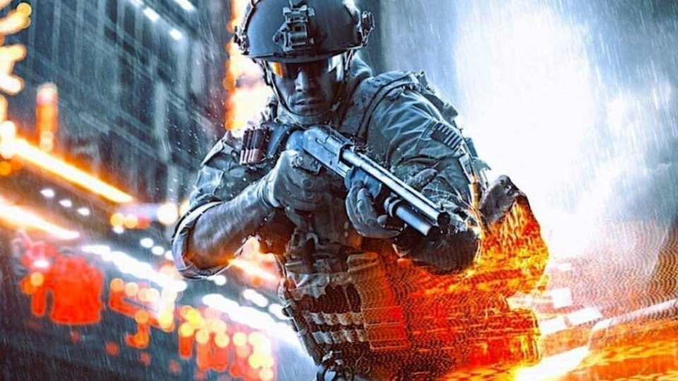 A soldier holding a pump shotgun