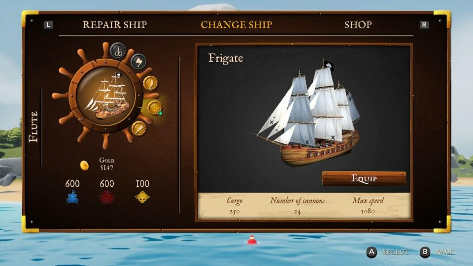 shows descriptions of the boat