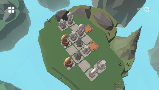 The puzzles in Knight's Retreat add in a lot more chess pieces as you progress.