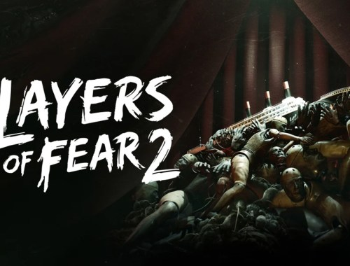 Key art for Layers of Fear 2 showing the game's logo as well as a ship sitting atop a pile of mannequins.