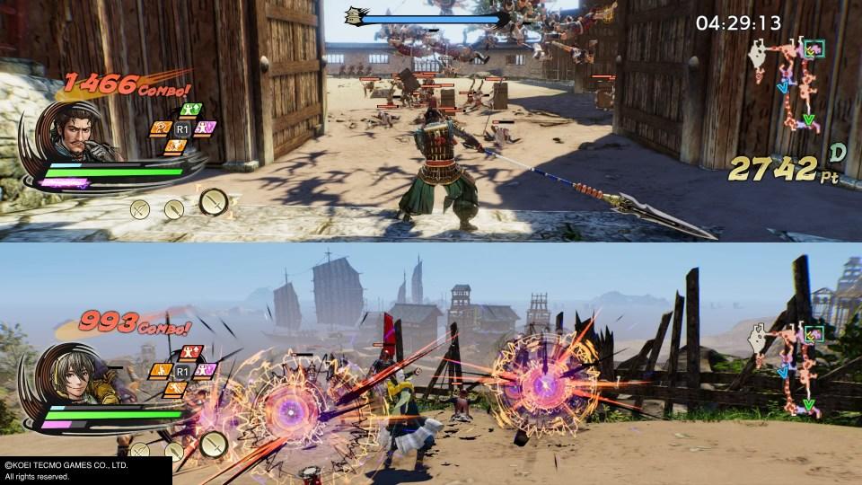 Cooperative mode plays in split screen