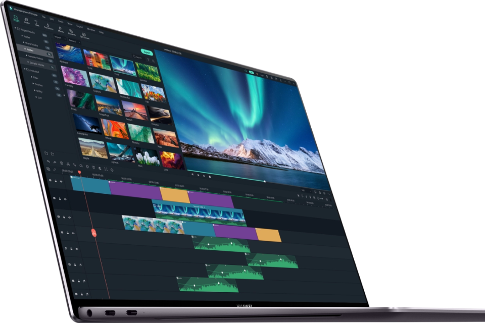 Video editing software on the Huawei Matebook