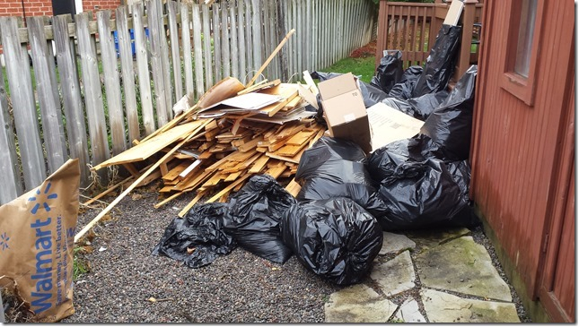 Contractor waste before