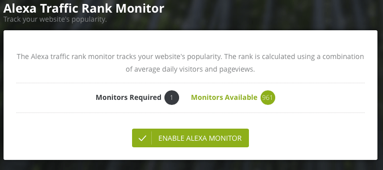 Alexa traffic ranking