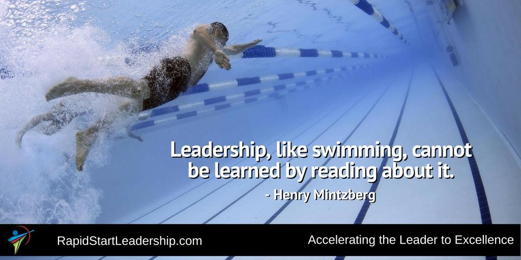 Leadership is Like Swimming