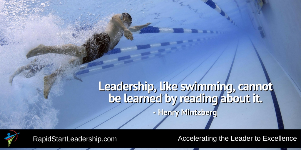 Leadership is Like Swimming