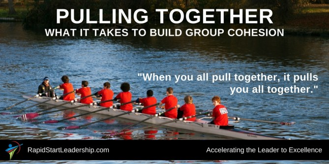 Pulling Together: What it Takes to Build Group Cohesion