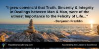 Serenity comes through Integrity