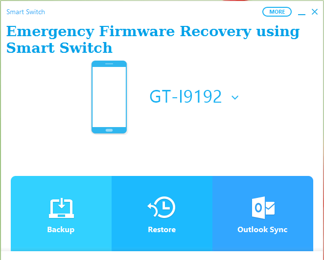 Android firmware recovery using smart switch