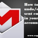 How to undo(cancel) sent email in your gmail account