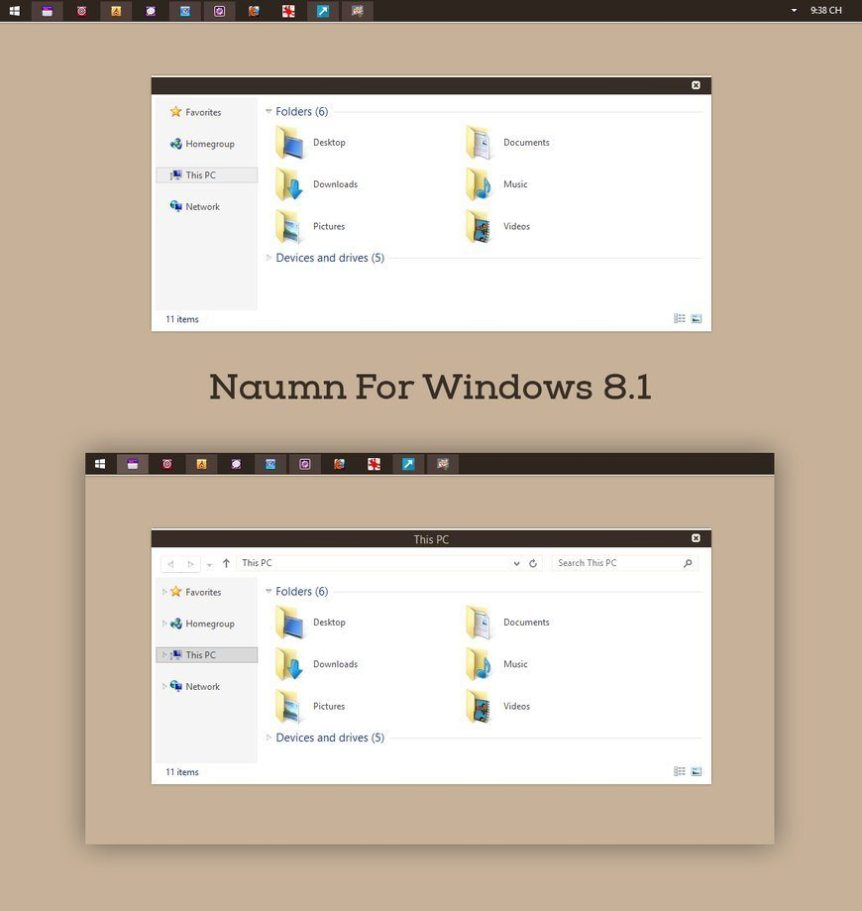 Naumn Theme for windows 8