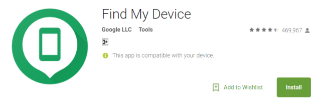Find My Device Security App for Android