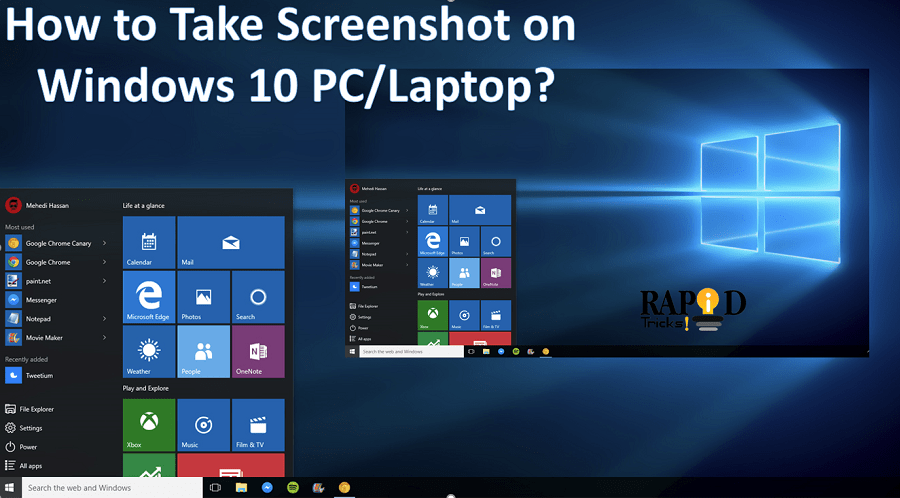 How to Take ScreenShot on Windows 10 PC