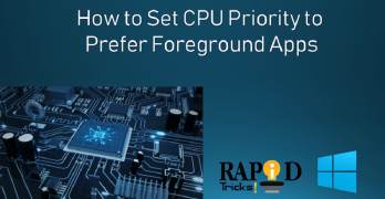 How to Set CPU Priority to Prefer Foreground Apps?