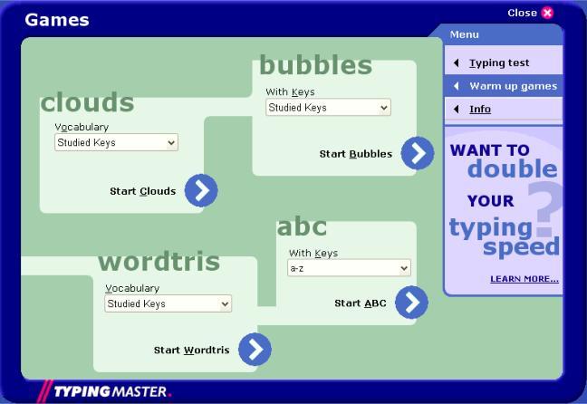 Typing Tutor Software: TypingMaster Typing Test