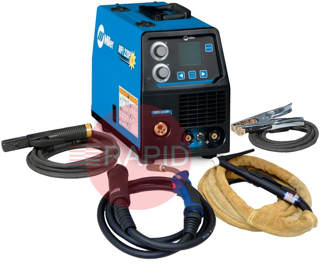 hight resolution of 059016014mppk miller mpi 220p multi process pulse mig tig arc ready to weld package