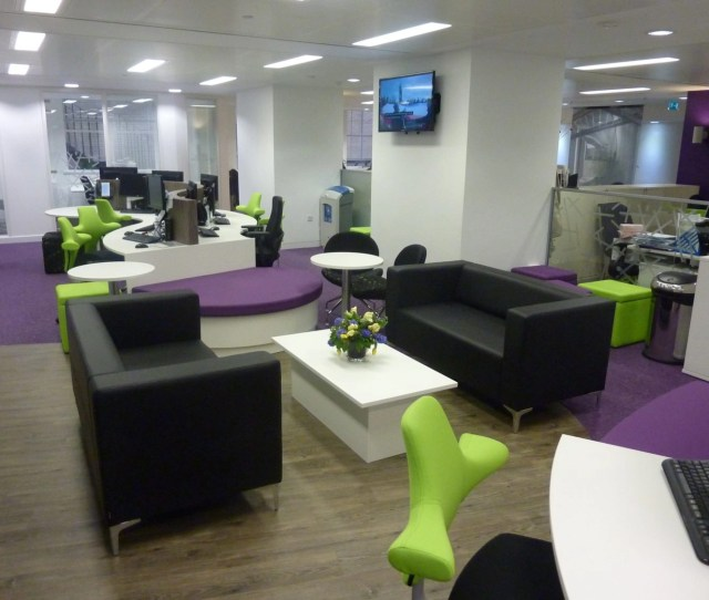 Waiting Area Sofas And Coffee Table Implemented By Office Fit Out Company Rap Interiors