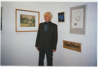 E. Littover oma juubelinäituse avamisel Mahtra muuseumis 10. mai 2001- MT_603_1F