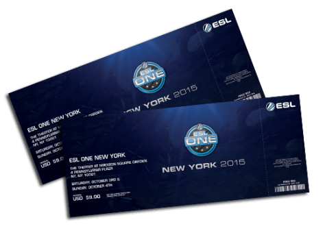 ESL One Pre-sale tickets