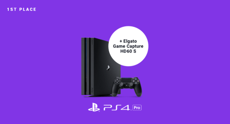 Sony PlayStation 4 Pro Console + Elgato Game Capture HD60 S