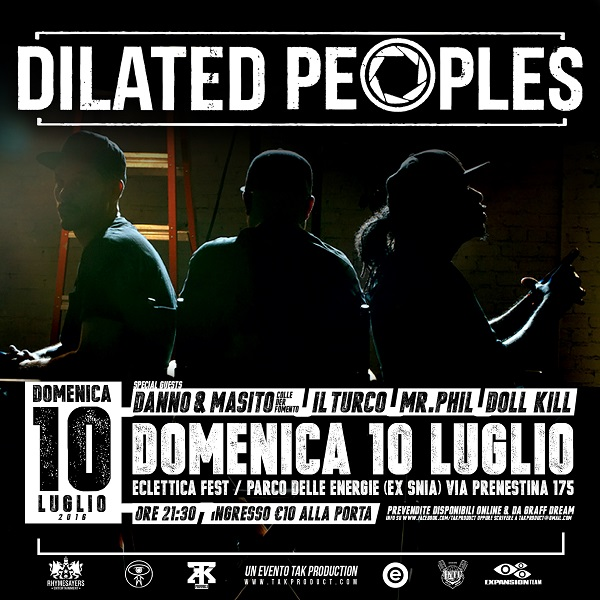 Dilated Peoples live a Roma – 10 luglio 2016