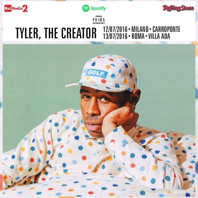 Tyler, The Creator live a Roma e Milano