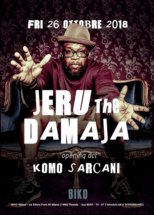Jeru The Damaja live a Milano il 26/10/18